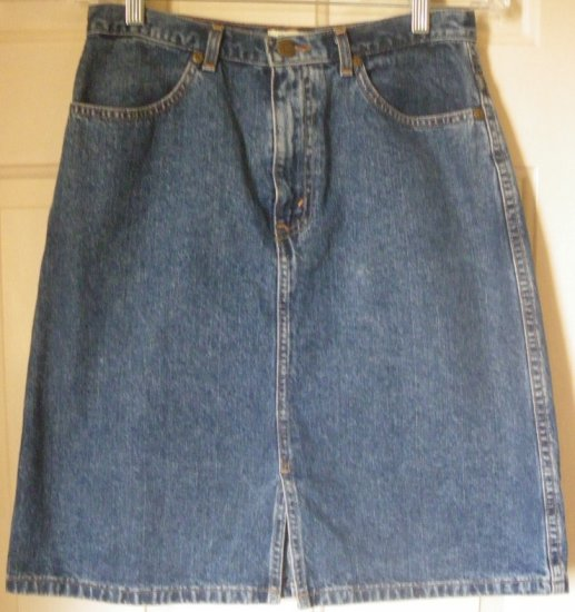EDDIE BAUER Blue Above-Knee DENIM Skirt size 6P