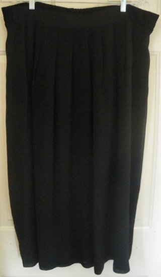 MICHAEL TAYLOR Long Black Skirt size 2X