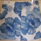 RAG White & Blue Mid-Thigh STRETCH Floral Print Skirt size 8