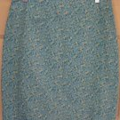 A. BYER Cyan Mid-Thigh STRETCH Floral Print Skirt size 9