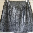 HIGHWAY Gray Mid-Thigh FAUX SNAKESKIN Skirt size 9