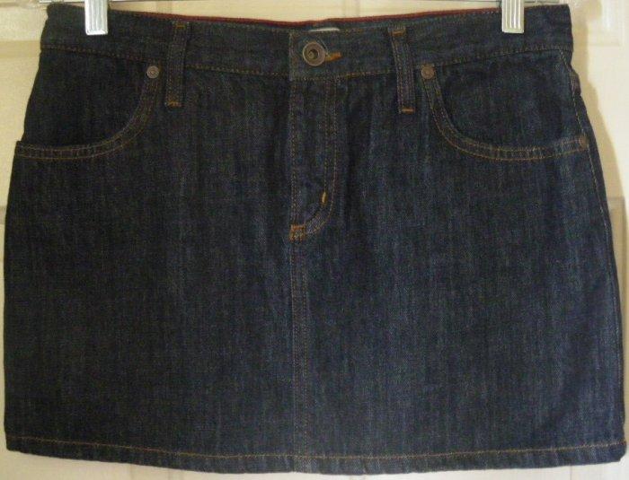 MAVI Dark Blue Micromini DENIM Skirt size S