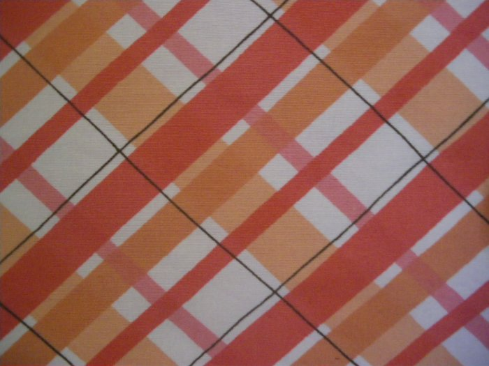 FRENCH CONNECTION Orange Above-Knee STRETCH Plaid Skirt size 2