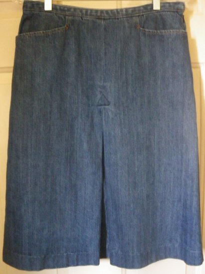 FALLS CREEK Blue Below-Knee DENIM Skirt size 8