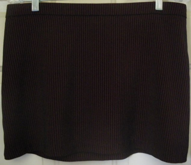 WET SEAL Black STRETCH PINSTRIPED Mini Skirt size 9