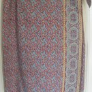 RALPH LAUREN Long Teal WRAP Print Skirt size 12