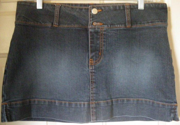 JORDACHE Blue LO-RISE STRETCH DENIM Mini Skirt size 13/14