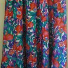 CHAUS Multicolored Mid-Calf FLORAL PRINT Skirt size 1X
