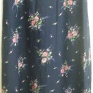 CRAZY HORSE Long Navy blue FLORAL PRINT Skirt size 6