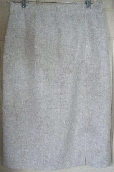SAG HARBOR Beige Below-Knee Pencil Skirt size 14