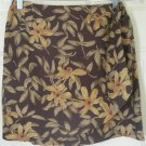 THE LIMITED Brown Mid-Thigh FLORAL PRINT WRAP Skirt size 4
