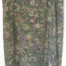 BENTLEY Long Green PAISLEY Skirt size 24 *NWOT*
