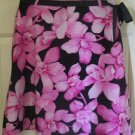 MAXIMO Black & Pink Knee-Length FLORAL PRINT Skirt size 4P
