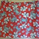 VINEYARD VINES Red Mini WRAP Print Skirt/Swim Cover size M
