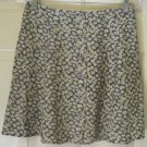 EXPRESS Teal Mid-Thigh BUTTON FRONT Floral Print Skirt size 3/4