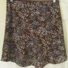 EXACT CHANGE Brown Mid-Thigh FLORAL PRINT Skirt size M