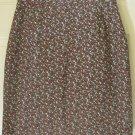 CASUAL CORNER Black Above-Knee FLORAL PRINT Skirt size 8