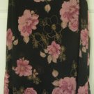 WRAPPER Black Knee-Length FLORAL PRINT Skirt size M