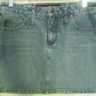 MUDD JEANS Blue Mid-Thigh DENIM Skirt size 7