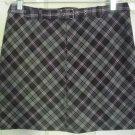 WEATHER VANE Purple Mid-Thigh STRETCH PLAID Skirt size M