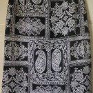TALBOTS Black & White Knee-Length PRINT Skirt size 2P
