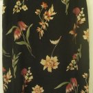 NORTON MCNAUGHTON Long Black FLORAL PRINT Skirt size 12P