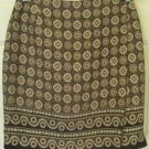 L'AMADEI by D.P. ALTOMONTE Black & Brown Above-Knee WRAP Print Skirt size 10