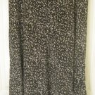 RALPH LAUREN Long Black SILK FLORAL PRINT Skirt size 16W