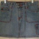 MUDD Blue Mid-Thigh CARGO DENIM Skirt size 5