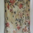 DRESSBARN Long Beige FLORAL PRINT Skirt size M