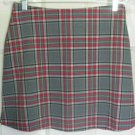 35th & 10th Gray Mid-Thigh STRETCH PLAID Skirt size 9