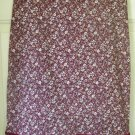 CHARLOTTE RUSSE Burgundy Knee-Length STRETCH FLORAL PRINT Skirt size 5