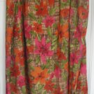 FASHION BUG Long Multi-Color FLORAL PRINT Skirt size 30/32