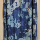 GIRLFRIENDS Long Blue FLORAL PRINT Skirt size XXL