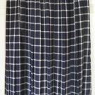 LESLIE FAY Navy Blue Mid-Calf PLEATED PLAID Skirt size 8P