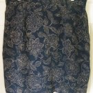 JONES NEW YORK Blue Above-Knee FLORAL PRINT SILK Skirt size 18W