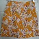 HEART SOUL Orange Above-Knee STRETCH Floral Print skirt size 5
