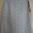 CHEROKEE White Blue Knee-Length FLORAL PRINT Skirt size 6