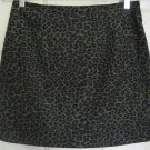 EXACT CHANGE Army Green Mid-Thigh LEOPARD PRINT STRETCH Skirt size 9