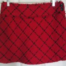 STUDIO Y Red Mid-Thigh PLAID Skirt size 5/6