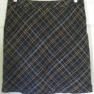 AMERICAN EAGLE Brown Above-Knee PLAID Wool Blend Skirt size 8