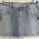 RUBBISH Blue STRETCH DISTRESSED DENIM Mini Skirt Size 5