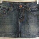 X2 Blue Low-Waist DENIM Micromini Skirt size 0