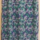 TALBOTS Long Blue & Green FLORAL PRINT Skirt size 12
