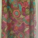 CROFT & BARROW Long Multicolored LINEN Blend Print Skirt size XL