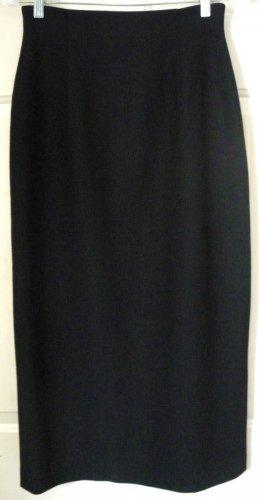 JONES WEAR Long Black WOOL Pencil Skirt size 4