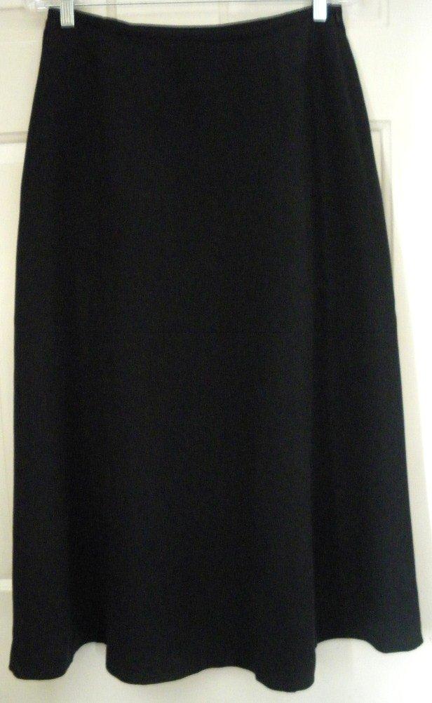 RENA ROWAN Long Black SILK Blend Skirt size 10