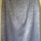 EXPRESS Glossy Lavender Knee-Length STRETCH Embroidered Pencil Skirt size 7/8