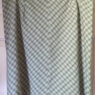 VENEZIA JEANS Above-Knee Beige Olive Green STRETCH PLAID Skirt size 22