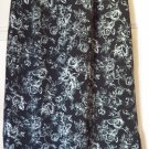 BRIGGS Mid-Calf Black & White FLORAL PRINTS Skirt size PS